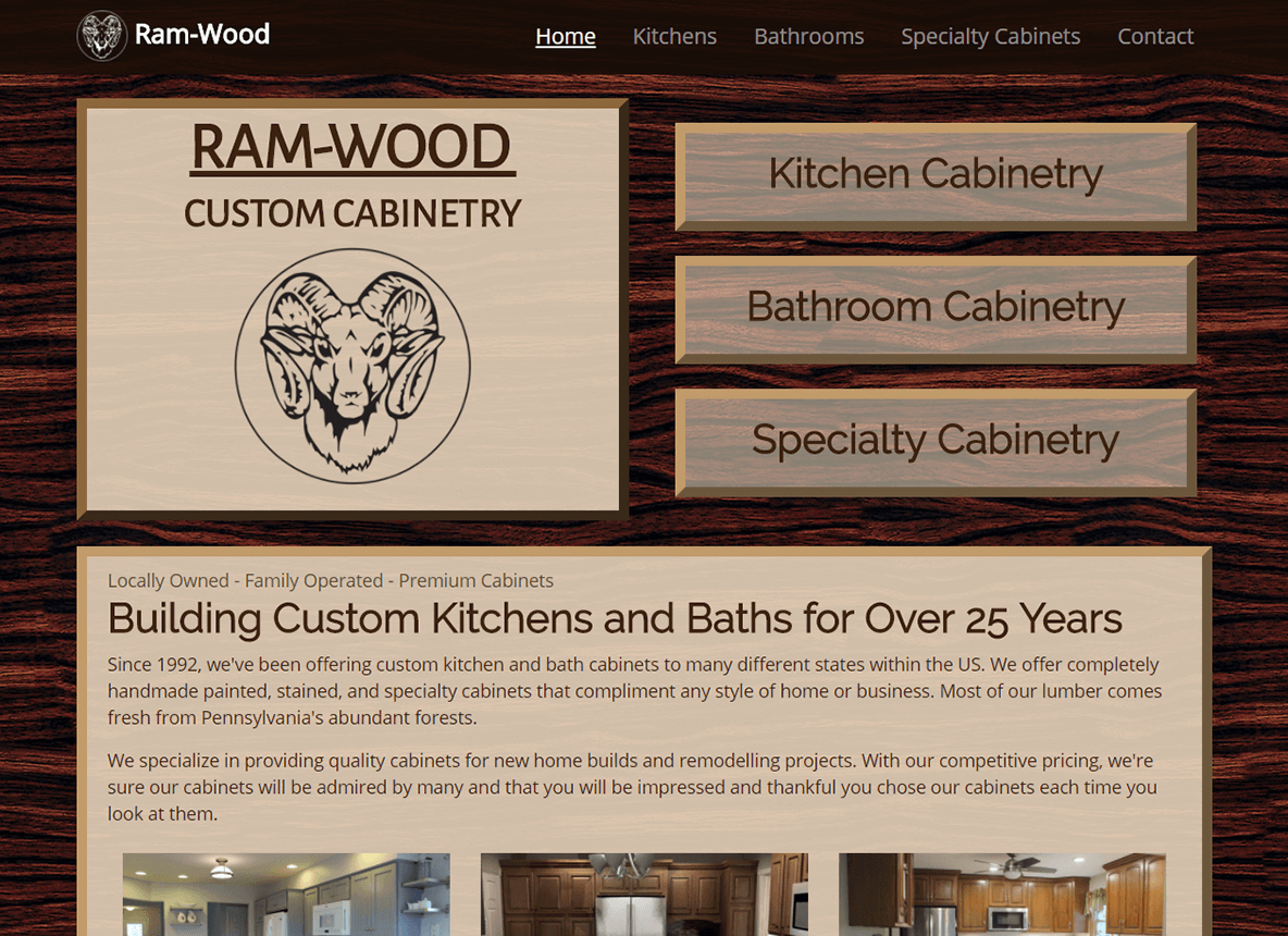 Ram-Wood Custom Cabinetry Example