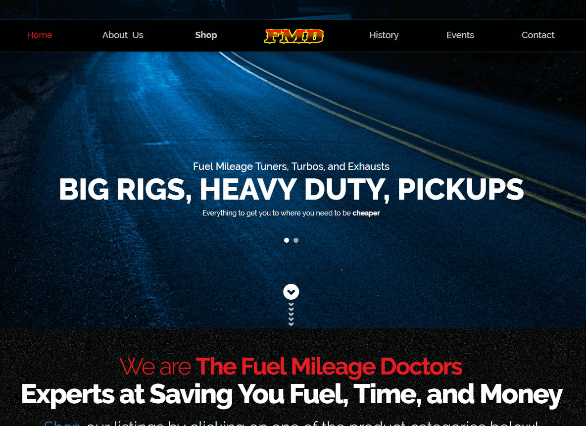 Fuel Mileage Dr. Web Design Project