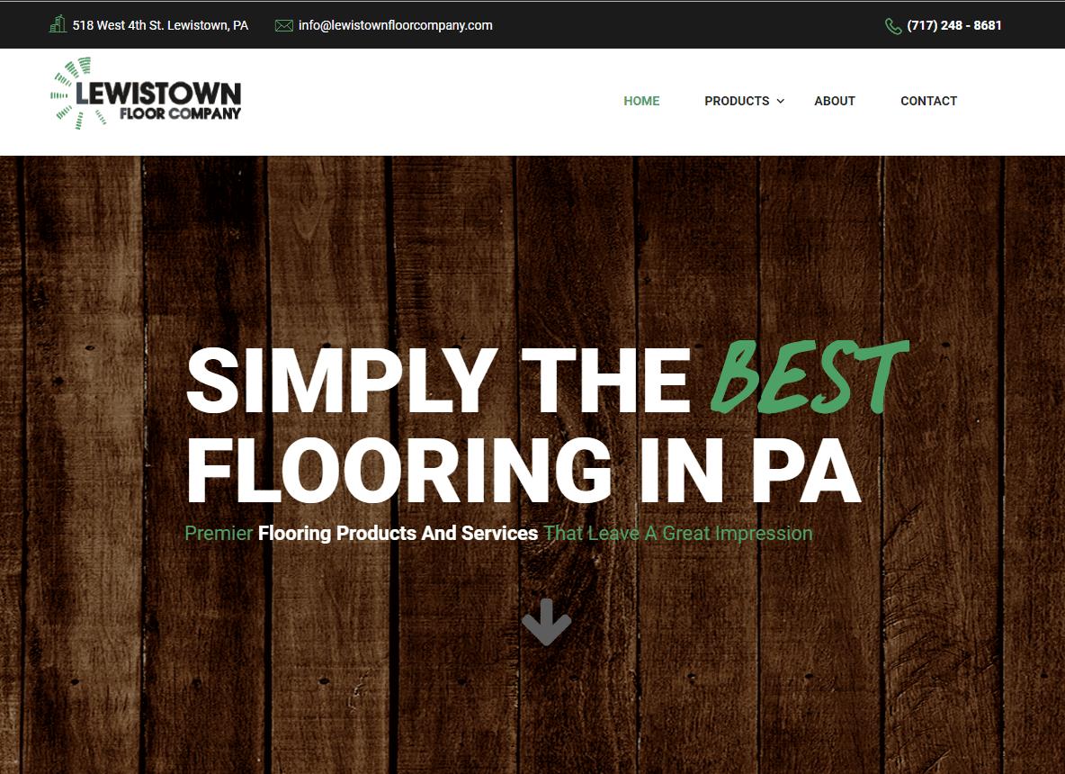 lewistown- floor company website design lewistown pa