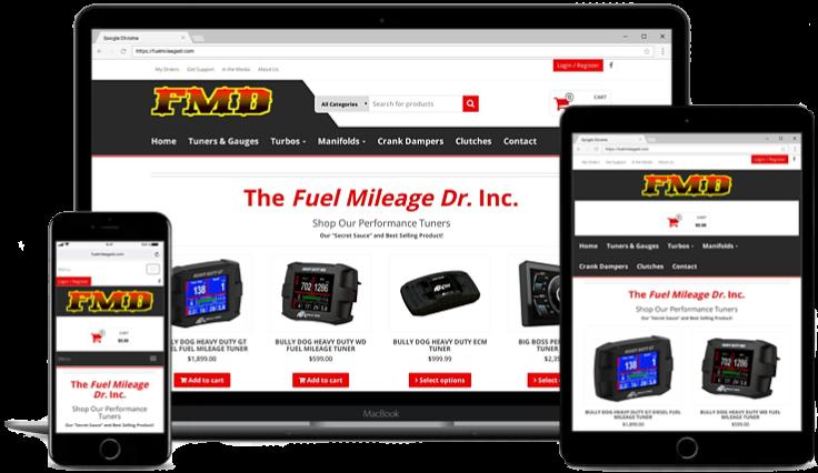 Ecommerce Web Design for Fuelmileagedr.com